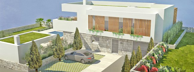 Villa oferece uma vista incrível da costa, mar e vale em um ambiente muito tranquilo