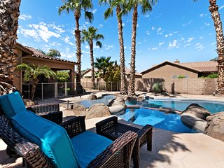 NEW LISTING! Luxurious home w/back yard oasis, heated private pool, & hot tub!