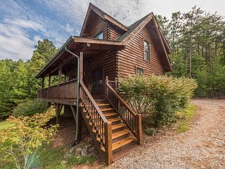 Chateau Nebo Cabin | Community lake, boardwalk, pool and hot tub!