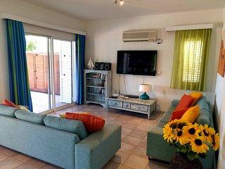 Sea Front Villa near Paphos, 3 Bedrooms and a Hot Tub