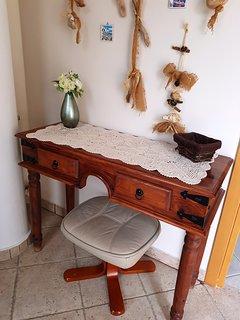 Upstairs desk