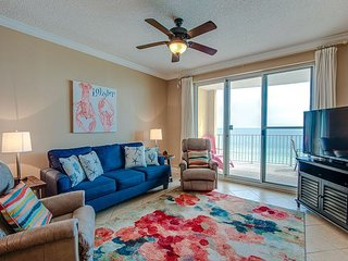 Enjoy immaculate views from this SANITIZED 6th floor condo at Twin Palms!