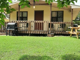 Cottage #4 view of Bull Shoals Lake free boat slip with rental fully furnished