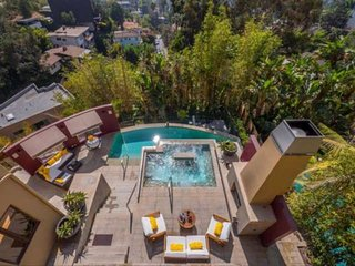 Newly Listed Mediterranean Resort in Hollywood Hills~2 Master Suites, Outdoor Oa