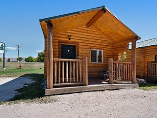 Upgraded camping cabin w/ large front porch, kitchenette, & free WiFi