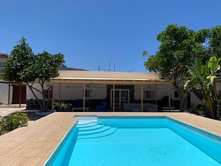 Beautiful 2 bedroom holiday home with pool and big garden in Arucas