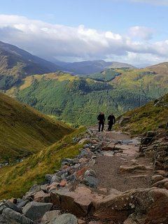 Fantastic views from the Ben Nevis path