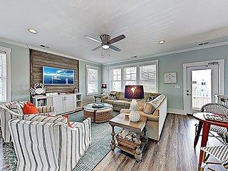 Chic Coastal Home w/ Pool, Multiple Balconies, Ocean Views — Walk to Beach!