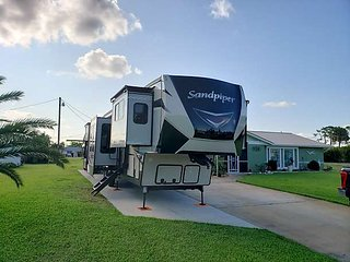 42' Forest River Sandpiper  Fifth wheel camper.