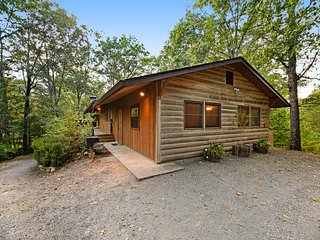 Rustic cabin with deck, picnic table & hot tub - recreation room in basement!