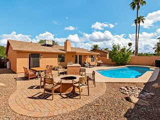 Newly furnished vacation home w/ private heated pool & backyard activities!