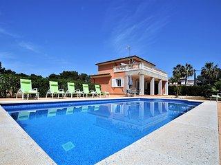 VILLA SOL- Villa with private pool in Cala Pi.  Children welcome TV. BBQ - Free