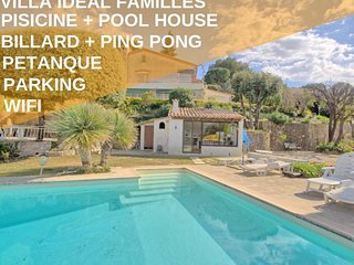 Villa Idéal Familles, Piscine+Golf+Wifi+Pool House - Villas à louer à Biot