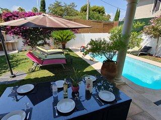 Villa Moderne,Centre,Piscine,5min Mer,Clim,Parking - Villas à louer à Cannes