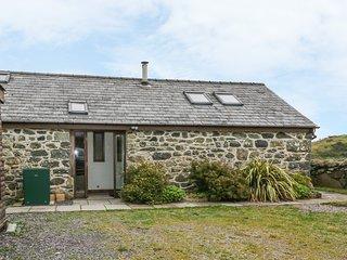 Y BEUDY, semi-detached barn, single-storey, WiFi, woodburner, beams, in