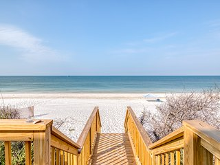 Spacious, waterfront home w/ decks, beach views & private boardwalk