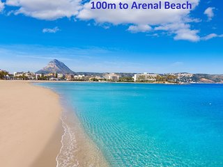 Arenal Beach 100m, Air-con, WiFi, Pools, EU TV + Sport, Parking, Welcome Pack!