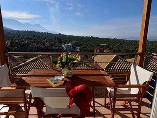 Dioni villa/marvelous sea view/near the beach