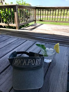 Cocktail on the deck!