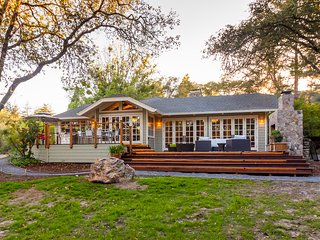 Luxurious estate on 10 acres w/ Japanese bath & tea house, gardens & tennis!