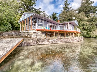 Lakefront, dog-friendly home with private dock and deck!