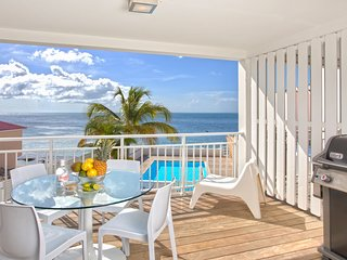 NEW = CENTRAL 2 Bedrooms Apartment on the Grand Case Beach. POOL. GARAGE.