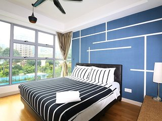 Elegant Balcony With KL Tower & Swimming Pool View