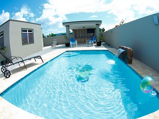 Pool Paradise near Boqueron, sleeps 8, full a/c, private pool, WiFi, 2bd/2bath