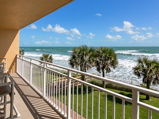 Enjoy your extra large balcony with Direct Ocean Front views