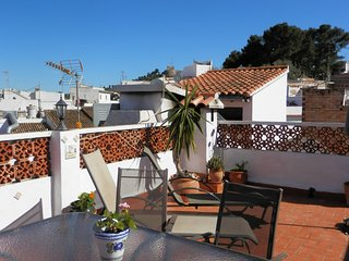 Roof terrace views in delightful traditional village house