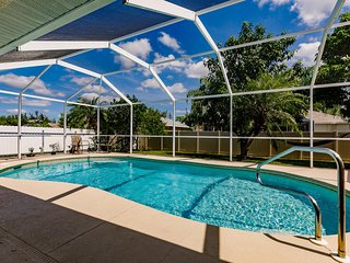 Villa Family Retreat, is an outdoor living oasis in most sought SW Cape Coral