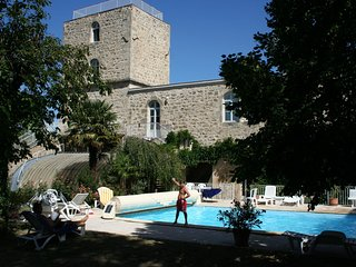 Magnificent apartment in castle with garden, swimming pool and next to golf