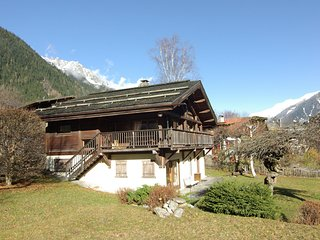 Chalet with large central fireplace and views of Mont Blanc