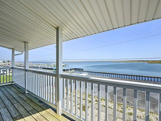 NEW! Waterfront Brigantine Home, Walk to Beach!