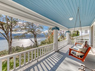 NEW LISTING! Riverview colonial-style home with panoramic views of the Gorge