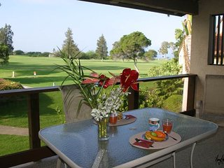 Condo with great sunsets and golf course views