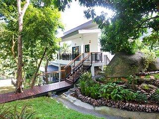 Waterfall villa with sea-view