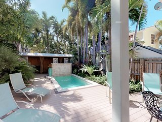 NEW LISTING! Ground level cottage w/private deck and swimming pool.