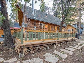 Modern, dog-friendly cabin w/ a full kitchen, wraparound deck, & enclosed yard