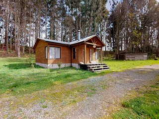 Secluded cabin near Ranco Lake w/wooden touches throughout and wood stove!