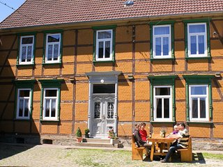 Beautiful group accommodation in Hüttenrode in a renovated Harz half-timbered h