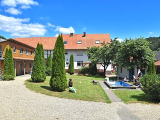 Holiday farm situated next to the Kellerwald-Edersee national park with a sunbat