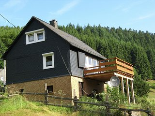 Holiday home in the Sauerland with a large terrace and a spaciously furnished in