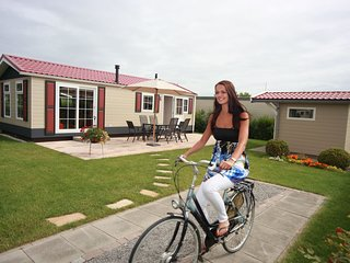Comfortable chalet with microwave, near the Wadden Sea