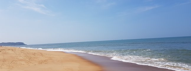 Yes this Pristine, Uncrowded Candolim Beach is close to the Villa