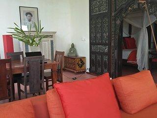 Villa Gamrang in Pelabuhan Ratu, 1 BR Villa with sea view and Private Garden