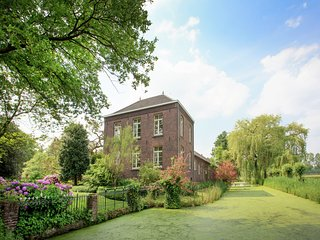 Splendidly situated farm castle with historic value.
