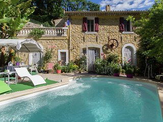 Romantic converted watermill in a beautiful mountain area near Grasse