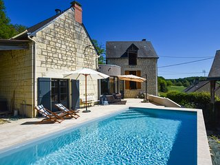 Gorgeous restored house near Thizay with Swimming Pool