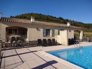 House with panoramic view and swimming pool in Ardèche